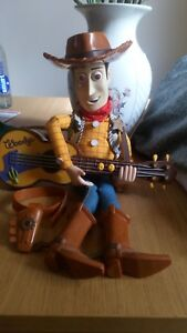 Toy Story, Singing  Woody Figure With Playing Guitar 17 inch approx with Hat