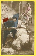 cpa de 1915 PATRIOTIQUE de Mr CHASSAT 1er Bat. CHASSEURS ALPINS SP 26 LE RÊVE