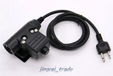 Z-Tactical U94 Headset Cable Adapter & PTT for ICOM COBRA VERTEX 2-Pin Ham Radio