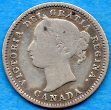 Canada 1880 H 10 Cents Ten Cent Silver Coin - Very Good