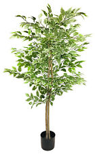 Artificial Ficus Tree Variegation Colours Plant House with Pot Garden Home Decor