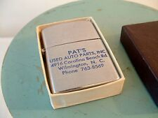 Vintage Advertising Silver Color Lighter Made in Japan PAT'S Used Auto Parts USA
