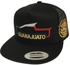 GUANAJUATO MEXICO 2 LOGOS TROKA  HAT LOGO FEDERAL BLACK MESH SNAP BACK