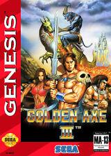 Framed Print – SEGA Genesis Golden Axe 3 (Picture Mega Drive Arcade Classic Art)