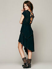 free people FP X Rocket Cat Dress Acid Wash Black SHOPBOP $118 NWTS! M
