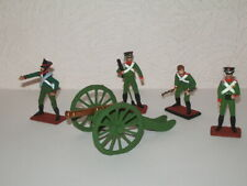 Napoleonic Wars Russian Artillery with crew set painted metal toy soldiers