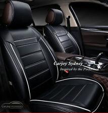 Black White Luxury Full Leather Car Seat Cover Kia Sportage Sorento Optima Rio