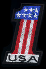USA #1 patch badge hot rod drag race motorcycle biker vest jacket