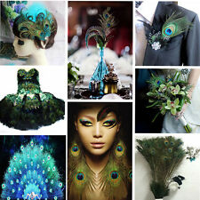 New Natural 100PCS Beautiful Peacock Feather Party Wedding Decor Home Decor US