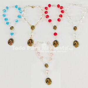 Baptism Favors Rosary Bracelet Virgen Mary Recuerdo Bautizo Rosario Quinceanera