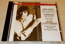 SAINT-SAENS-CELLO CONCERTO IN A-CD 1991-JULIAN LLOYD WEBBER-FULL SILVER RING