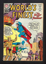 WORLD'S FINEST #119  VERY GOOD FINE 5.0!   TIGER MAN!   1961