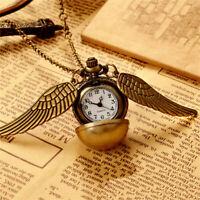 Vintage Snitch Watch Necklace Steampunk Quidditch Pocket Clock Penda D0L1