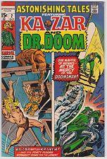 Astonishing Tales #2 F+ 6.5 Ka-Zar Doctor Doom Jack Kirby Wally Wood Art!