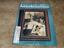 AMERICAN FILM (SEP 1978) A MEMORY OF HARLEM - Lots of Photos - HERBERT ROSS