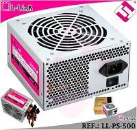 FUENTE ALIMENTACION ATX 500W L-LINK 2 SATA VENTILADOR 20+4 12X12 NUEVA PARA PC