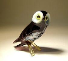 Blown Glass Figurine Art Bird OWL