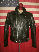 Men's  PROTECH  Motorcycle Cruiser Punk Heavy Leather Jacket . Size 44