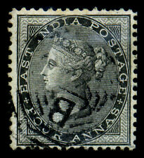 India. 1855. 4a. Black. SC# 9. VF Used. Signed