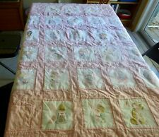 Completed Precious Moments Alphabet Cross Stitch Girls Quilt Abc Baby Blanket