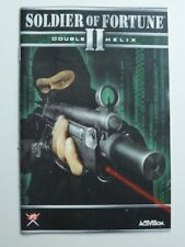 Soldier of Fortune Double Helix II - 2002 - BIG BOX MANUAL ONLY - edk