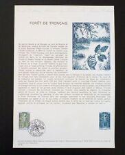 FRANCE MUSEE POSTAL FDC 19-76   FORET DE TRONCAIS  0,70F   MONTLUCON    1976