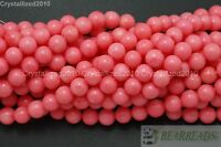 """Natural Pink Coral Gemstone Round Ball Spacer Beads 3mm 4mm 5mm 6mm 8mm 16"""""""