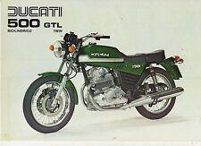 DUCATI 500 GTL TWIN BICILINDRICO SPORT BIKE 2 page Motorcycle Sales Brochure NCS