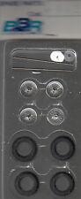 roues à rayons BBR 1/43e pour voitures années 50-60 référence R42