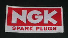 NGK SPARK PLUGS SEW ON BADGE PATCH LOGO EVO HRC VINTAGE CR YZ KX RM MX 4.5by2.5""