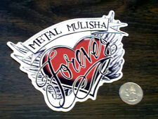 METAL MULISHA Girls FOREVER Sticker Vinyl Car Window Decal Maiden Red Heart