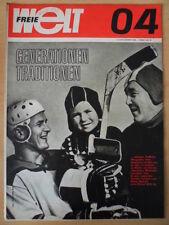 FREIE WELT 4 1968 Eishockey Johannes Dieckmann Andrzej Lapicki Fotoarchiv