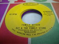 Soul 45 SLY & THE FAMILY STONE Family Affair on Epic
