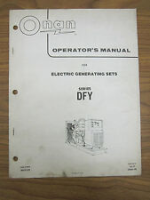 Onan Operator'S Manual For Dfy Series Electric Generating Sets Spec B