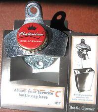 Custom Bottle Opener & Budweiser Beer Bottle Cap  Bud  Sports Bar King of Beers