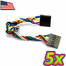 [5x] 6 Pin F-F Female 20cm 8in Dupont Arduino Breadboard Jumper Wire Cable