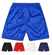 Shadow Stripe Shorts Kids Children Boys Girls Football School Gym PE Sports