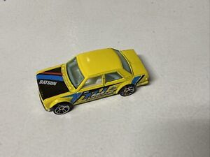 Hot Wheels 2010 Nightburnerz Series #97 Datsun Bluebird 510 Yellow w/ J5s