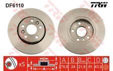2x TRW Discos de Freno Traseros Ventilado 280mm DF6110