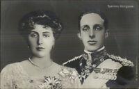 Spain Spanish Royalty Spniens Konigspaar King & Queenc c1910 RPPC Postcard