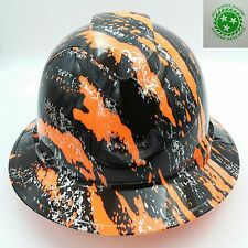 Pyramex Ridgeline Wide Brim Hard Hat Hydro Dipped in ORANGE URBAN SPLASH