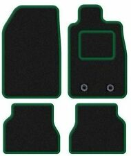 MINI COOPER 2002-2006 TAILORED CAR FLOOR MATS BLACK CARPET WITH GREEN TRIM