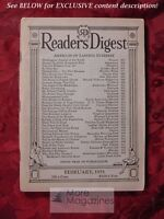 Readers Digest February 1931 Jimmy Doolittle Lowell Thomas Harry Emerson Fosdick