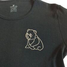 Swarovski Crystal Society SCS Panda Bear Studded T Shirt Ladies XL Never Worn