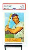 1954 Bowman #45 HOF Cubs RALPH KINER Vintage Baseball Card PSA 4 (MC) VG-EX
