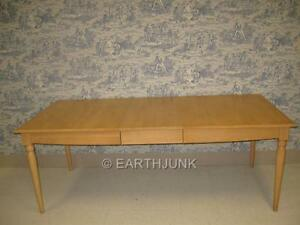 Ethan Allen American Dimensions Maple Rectangular Table with One Leaf