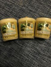 Yankee Candle VERA CRUZ VANILLA ~ Votives X 3 ~ RARE , retired & VHTF