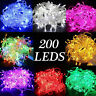 200 LED Christmas Tree Fairy String Party Lights Lamp Xmas Waterproof 15M