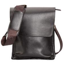 Accessoires sac bandoulière marron en cuir synthétique pour homme