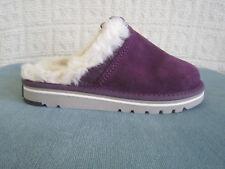 Sorel Newbie Womens Purple Suede Faux Fur Lined Mule Slippers Shoes Size 8